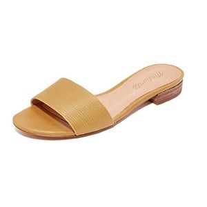 Madewell Yellow Cowhide Slides